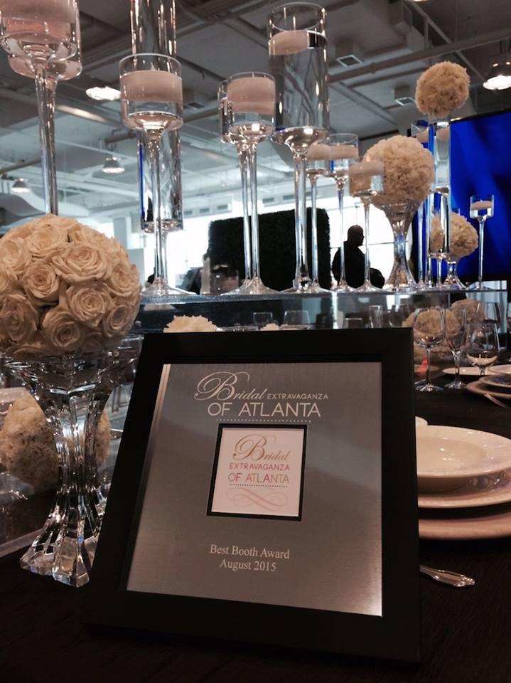 Best Booth Award At The Bridal Extravaganza of Atlanta!